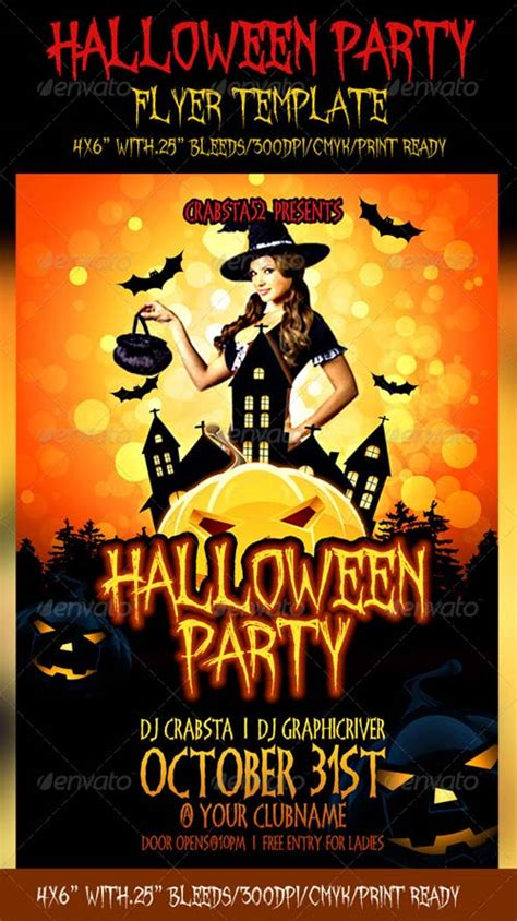 Graphicriver Halloween Party Flyer Template Graphicriver Event Flyer Template
