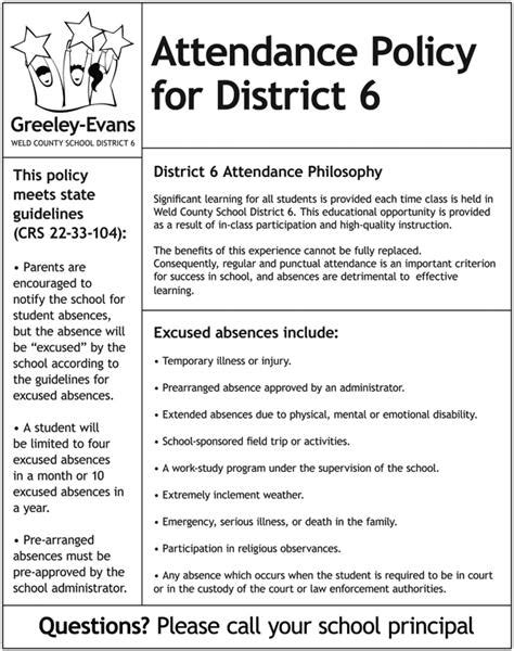 District Attendance Policy District Attendance Policy Attendance Policy Template
