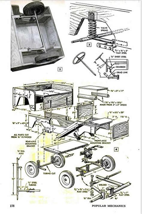 Willys Jeep Plans Plans For A Sidewalk Jeep With Coil Suspension Ewillys