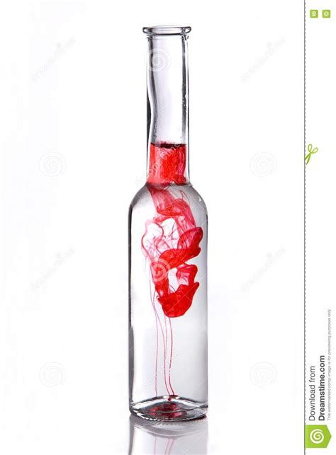 red martini bottle red poison drink in bottle royalty free stock images