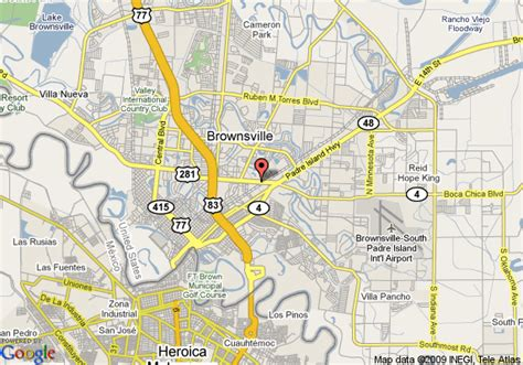 where is brownsville texas on the map map of howard johnson inn brownsville brownsville