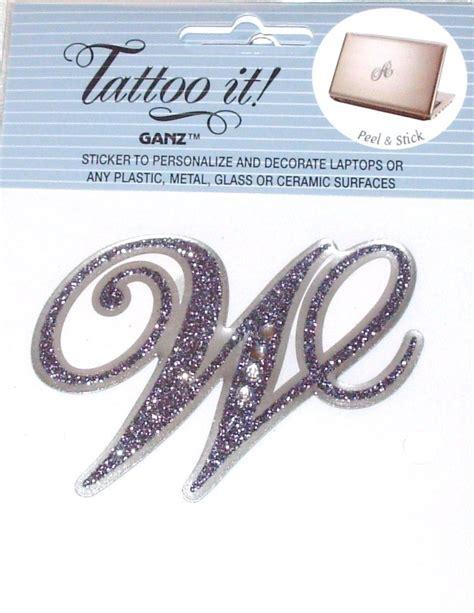 tattoo letters peeling sticker tattoo it letter w personalize decorate laptops