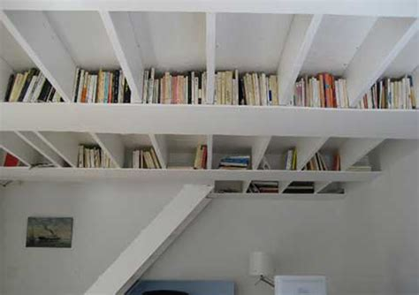 unique ceiling bookshelf ideas iroonie com