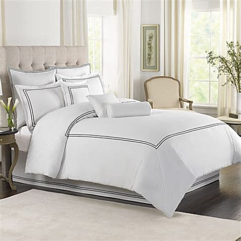 wamsutta comforter sets wamsutta 174 baratta stitch mini comforter set in white bed