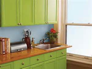 Green Cabinets In Kitchen Kitchen Kitchen Cabinet Paint Color Ideas Kitchen Paint Cabinet Painting Popular Kitchen