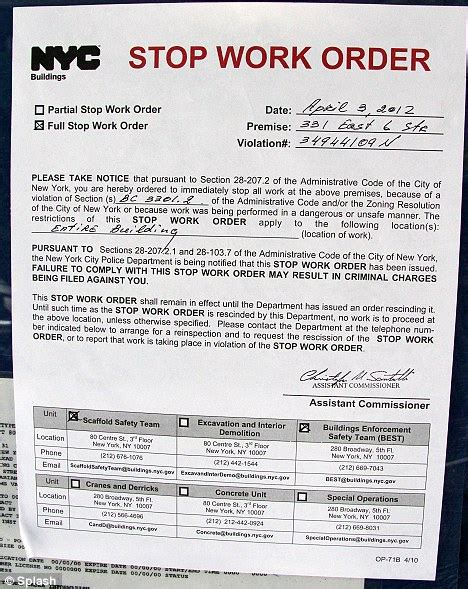 Stop Work Order by David Schwimmer Forced To Stop Construction On Dream Home