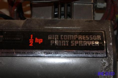 sears craftsman  hp air compressor paint sprayer model