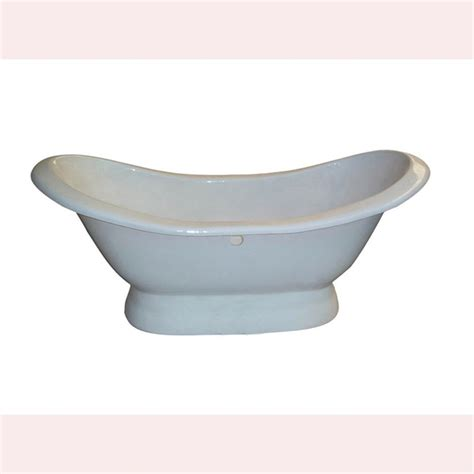pedestal bathtub shop barclay cast iron oval pedestal bathtub with center drain common 30 in x 72 in