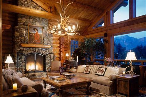 log home portfolio luxury home with log cabin style