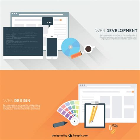 free tutorial on website design and development web development and design vector free download