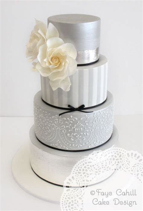 Silver Wedding Cake by 25 Best Ideas About Silver Wedding Cakes On