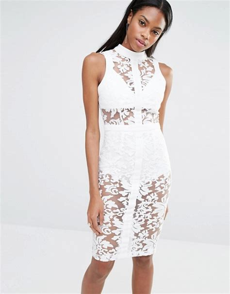 Lace Bodycon Dress Original missguided missguided high neck sleeveless premium lace bodycon dress