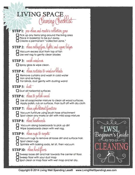 living room cleaning checklist beginner s guide to cleaning part 3 how to clean your living space living well spending less 174