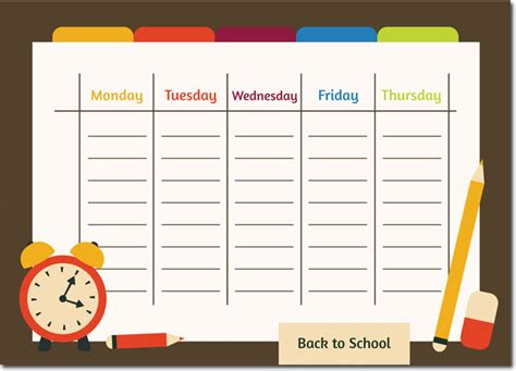 what i did at school today template 10 students weekly itinerary and schedule templates