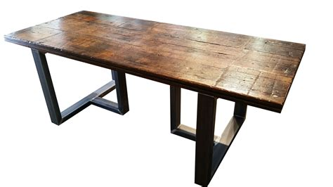 custom wood dining tables made reclaimed wood dining table by ironcraft