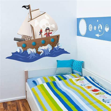 pirate ship wall stickers children s pirate ship wall sticker by oakdene designs