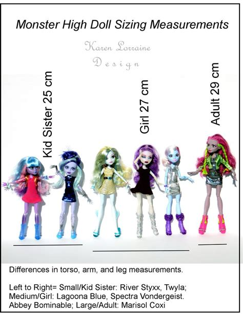 a for all time doll measurements 31 best images about doll measurement charts on