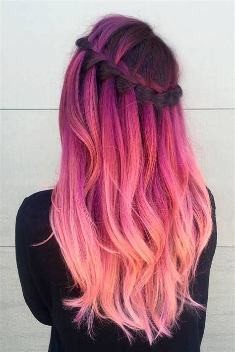 Dye Hairstyles by Best 20 Rainbow Hair Ideas On Dyed Hair