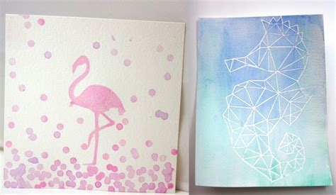Make Your Own Watercolor Paper - diy watercolor with a contact paper stencil 183 how to