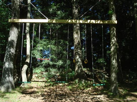 how to build a swing between two trees pecchia swing set