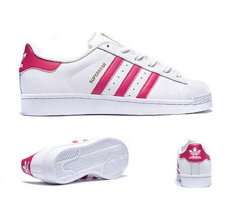 adidas originals junior superstar foundation trainer white pink m555