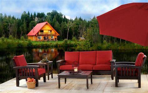 cypress  piece patio mission sofa set  dutchcrafters