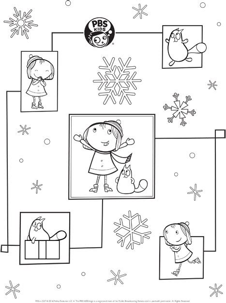 free coloring pages of peg cat