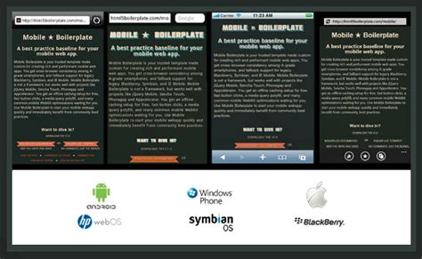mobile boilerplate site bookmark 1 html dan css achmatim net