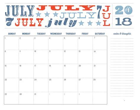 printable calendar 2018 july printable july 2018 calendar max calendars