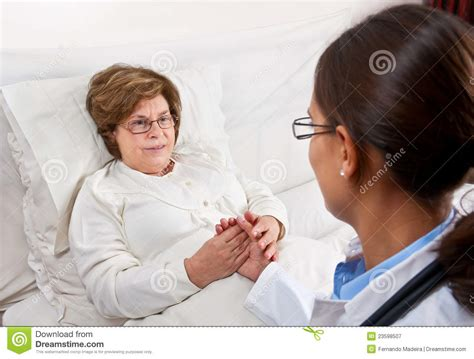 doctor comforting patient doctor comforting senior patient royalty free stock
