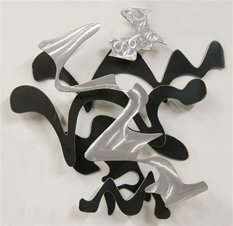 we re to see the wizard abstract metal wall sculpture - Wall Sculptures Metal Modern