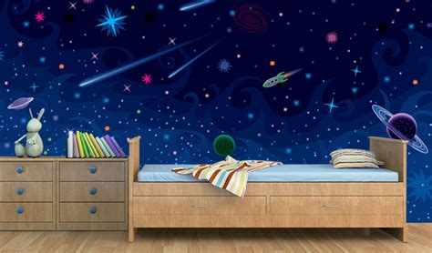space wallpaper room space theme wallpaper for room