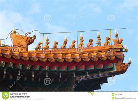 roof decorations imperial roof decorations beijing stock image image