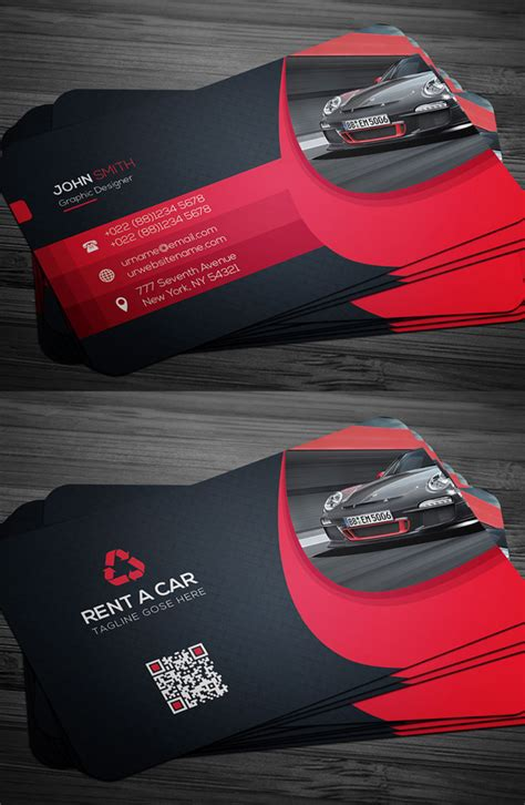 rent a car business card template free new business cards psd templates design graphic design