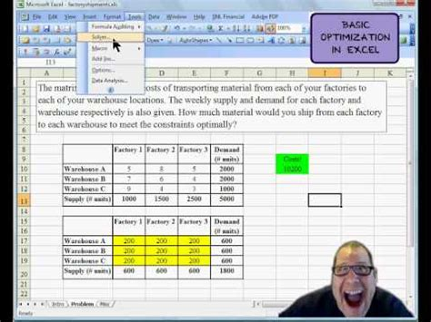 How To Use The Solver Tool In Excel Doovi Portfolio Optimization Excel Template