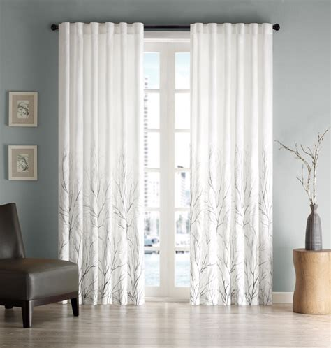 branch curtains madison park a quiet branch pattern curtains buyma