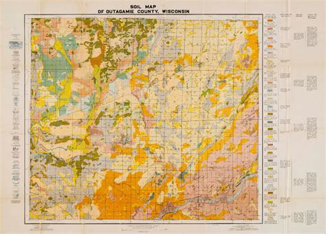 Outagamie County Records Wisconsin Geological History Survey 187 Map 1 Soil Map Of Outagamie County