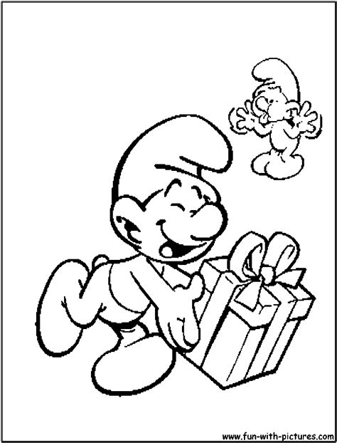 smurfs christmas coloring pages