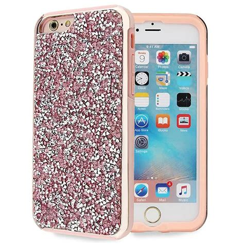 pink bling hybrid glitter tpu protective cover for iphone 6s 6 plus ebay