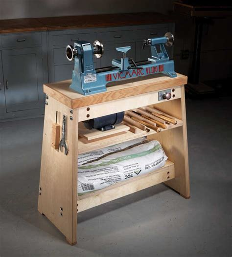 wood lathe bench how to build the ultimate lathe stand american woodworker