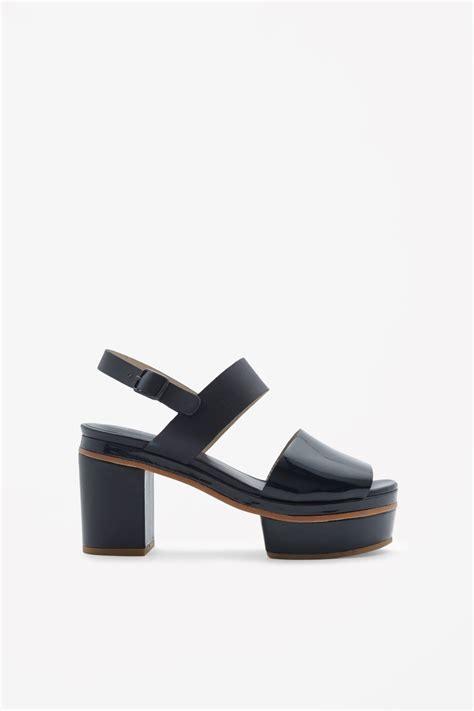 cos platform sandals cos platform sandals in blue blue lyst