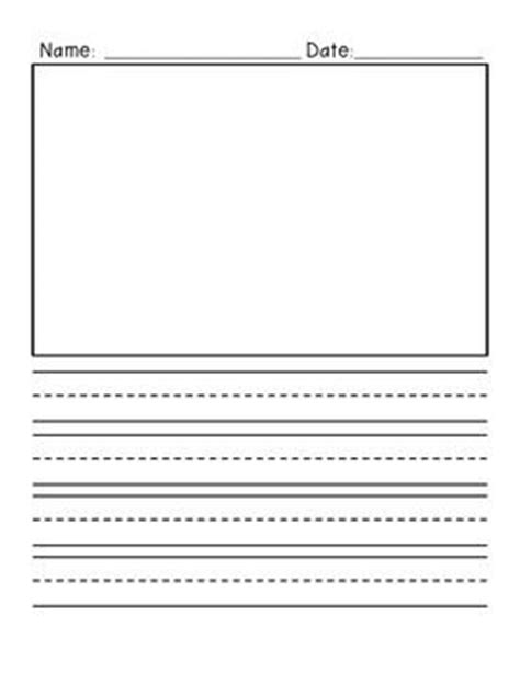 writing paper with picture box freebie primary writing paper vertical design with