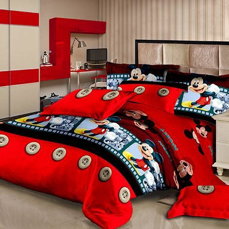 Sprei New Mickey No 1 Fata sprei fata king new mickey merah shopee indonesia