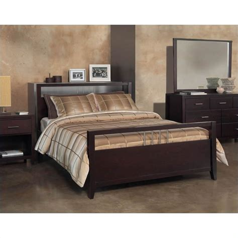 espresso bedroom furniture modus furniture nevis platform storage bed in espresso 5 bedroom set 365756 5pkg