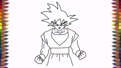 steps on how to draw doodle drawing goku step by step drawing ideas