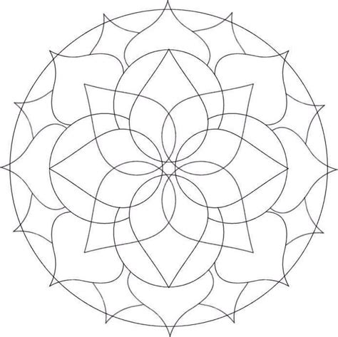 simple mandala coloring pages coloring home