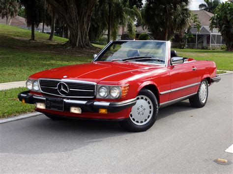 convertible cars mercedes 1988 mercedes 560sl convertible one owner florida