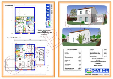 Plan Maison Etage 3 Chambres by Plan Maison A Etage 3 Chambres Immobilier Pour Tous