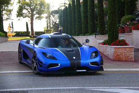 koenigsegg car blue blue koenigsegg one 1 arrives in monaco gtspirit