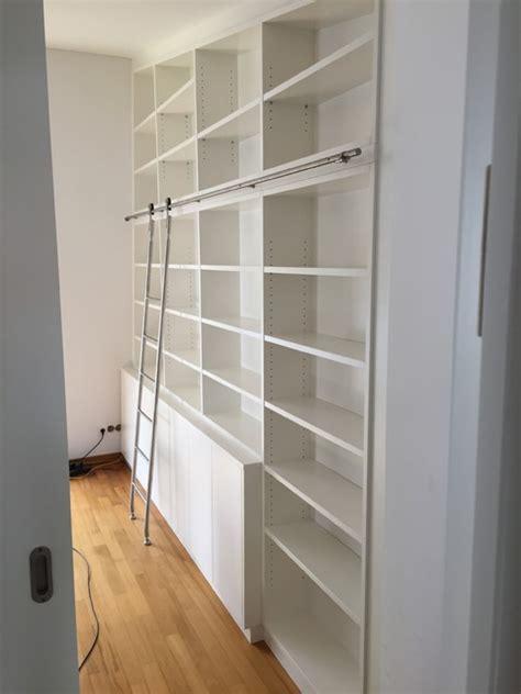 bibliothek m bel ikea leiter f 252 r bibliothek modern wohnzimmer m 252 nchen